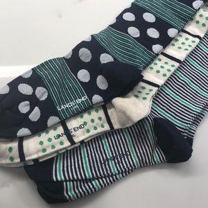 NWT Lands End Knee High Socks - 3 pairs